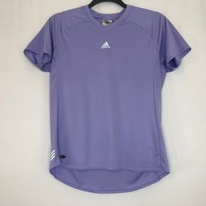 Adidas Climalite Purple Short Sleeve Activewear T